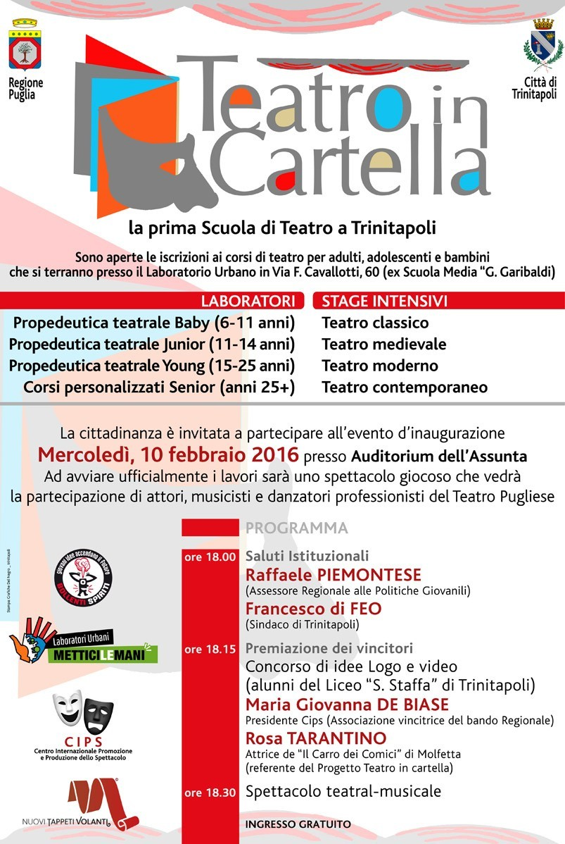 Manifesto TEATROINCARTELLA