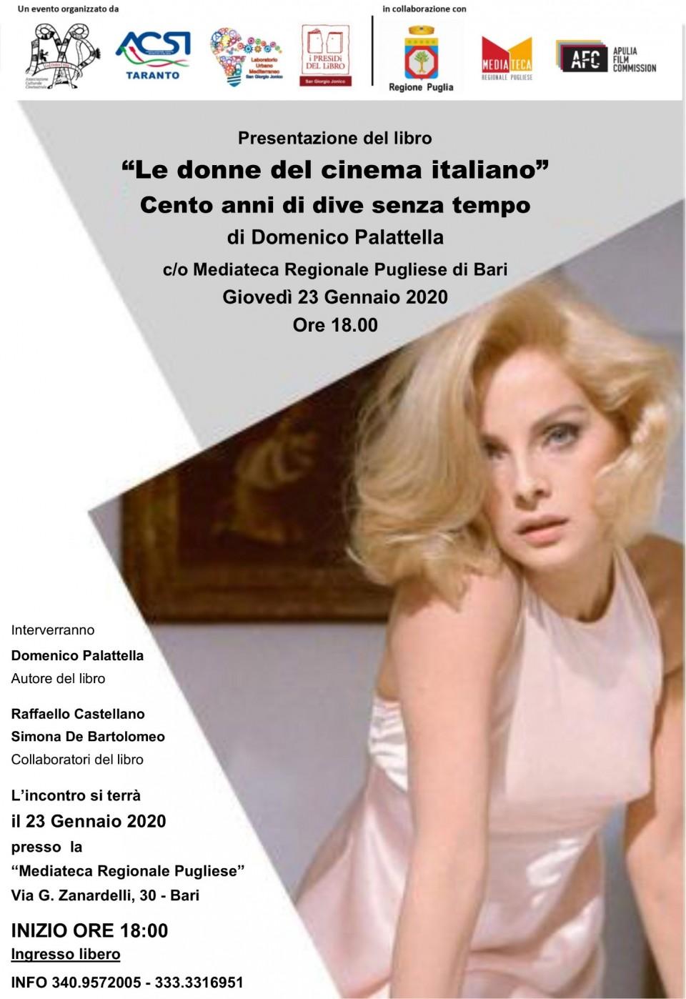 LOCANDINA -  Le donne del cinema italiano - MEDIATECA REGIONALE PUGLIESE