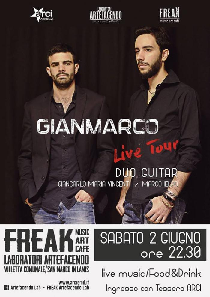 Freak/Artefacendo Lab presentano GIANMARCO in concerto
