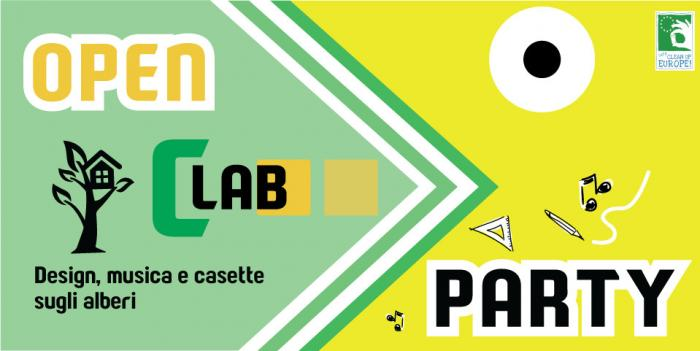 OPEN CLAB PARTY. DESIGN, MUSICA E CASETTE SUGLI ALBERI