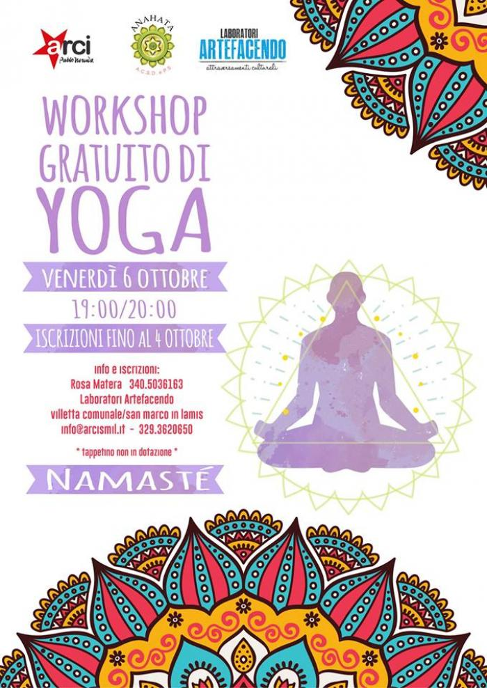 ARTEFACENDO: workshop gratuito di YOGA